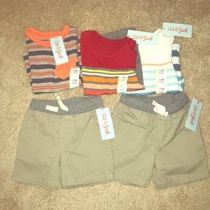 Bundle! 3 shirts & 2 shorts